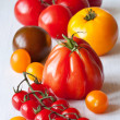 Stock Photo: Varied types of tomatoes.
