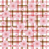 Tweed flower background — Stock vektor