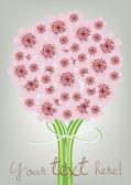 Elegant flowers bouquet card — Stock Vector