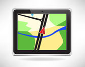 Navigation pad isolated — Stockvector