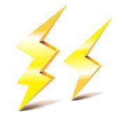 Two thunder lightning symbols — Stock Vector