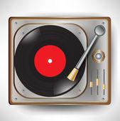 Retro gramophone; turntable — Stock Vector