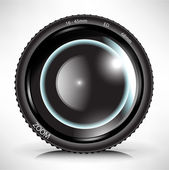 Kamera foto-objektiv — Stockvektor