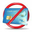 Royalty-Free Stock Vector Image: No credit card accepted sign/ credit card rejection