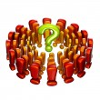 Royalty-Free Stock Photo: Question surrounded by exclamation marks