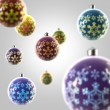 Light composition of Christmas balls — Stock Photo