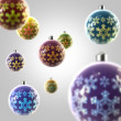 Stock Photo: Light composition of Christmas balls