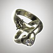 """据此说明""""权宜婚姻的两个环"""" — 图库照片"""