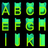 Alphabet: soft wax green letters — Stock Photo