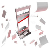 Deadline conception: guillotine as a deadline — Stock Photo
