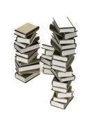 Pila de libros de oro estilizadas brillantes — Foto de Stock