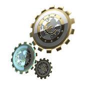 Mechanism made of gears — Stock Photo