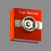 Top secret book vault isolated on grey — Stock Photo