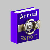 Caveau di libro relazione annuale isolato su grigio — Foto Stock