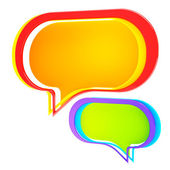 Chatting: colorful text bubble isolated — Stock Photo