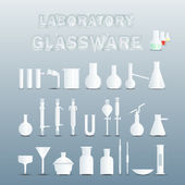 Laboratory glassware — Stock Vector