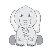 Sad elephant — Stock Vector