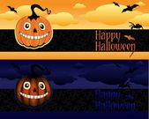 Banderas de halloween — Vector de stock