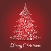 Christmas tree card — Stock Vector