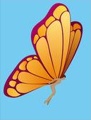 Farfalla donna — Vettoriale Stock