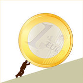 Symbol of business with EURO coin — Stock Vector