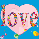 Symbols of mutual colorful love — Stock Vector