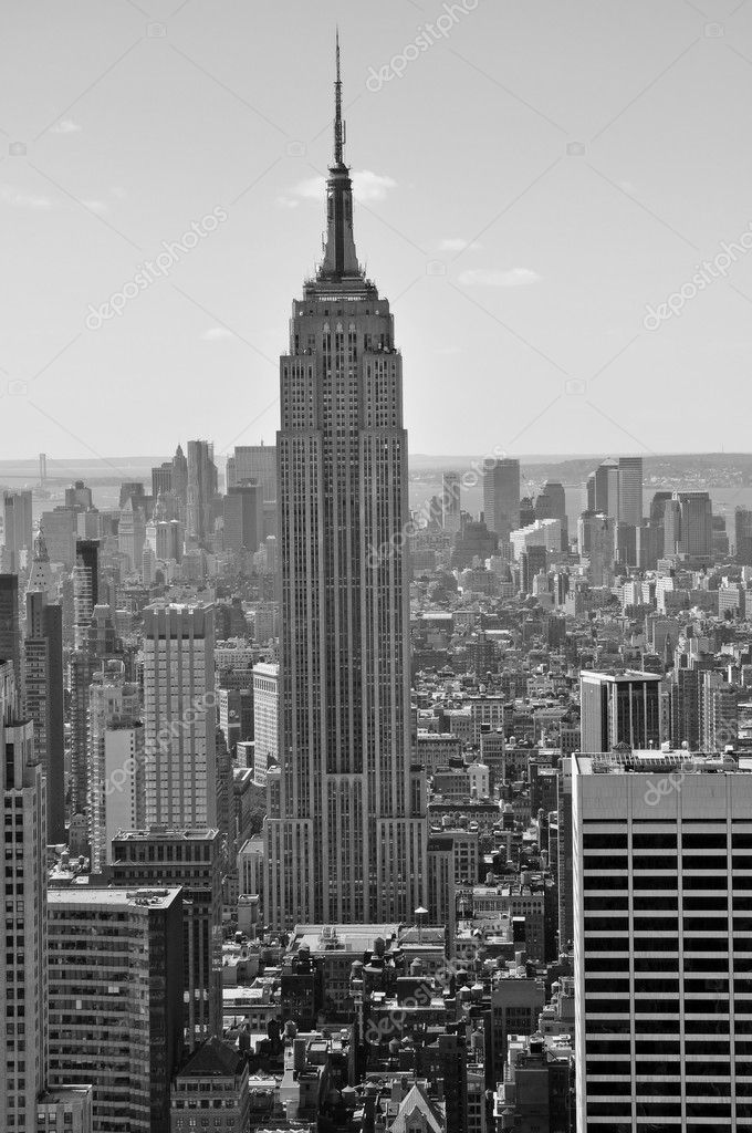 The Empire State Building, shot from the Top of The Rock  Stock Photo #6856907