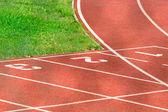 Athletics Running Track — Stock Photo