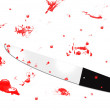 Knife with blood all around — Stock Photo