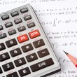 Scientific Calculator Next to Maths — Stock Photo