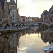 Graslei in Ghent, Belgium — Stock Photo