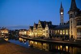Graslei in Ghent, Belgium — Stock Photo