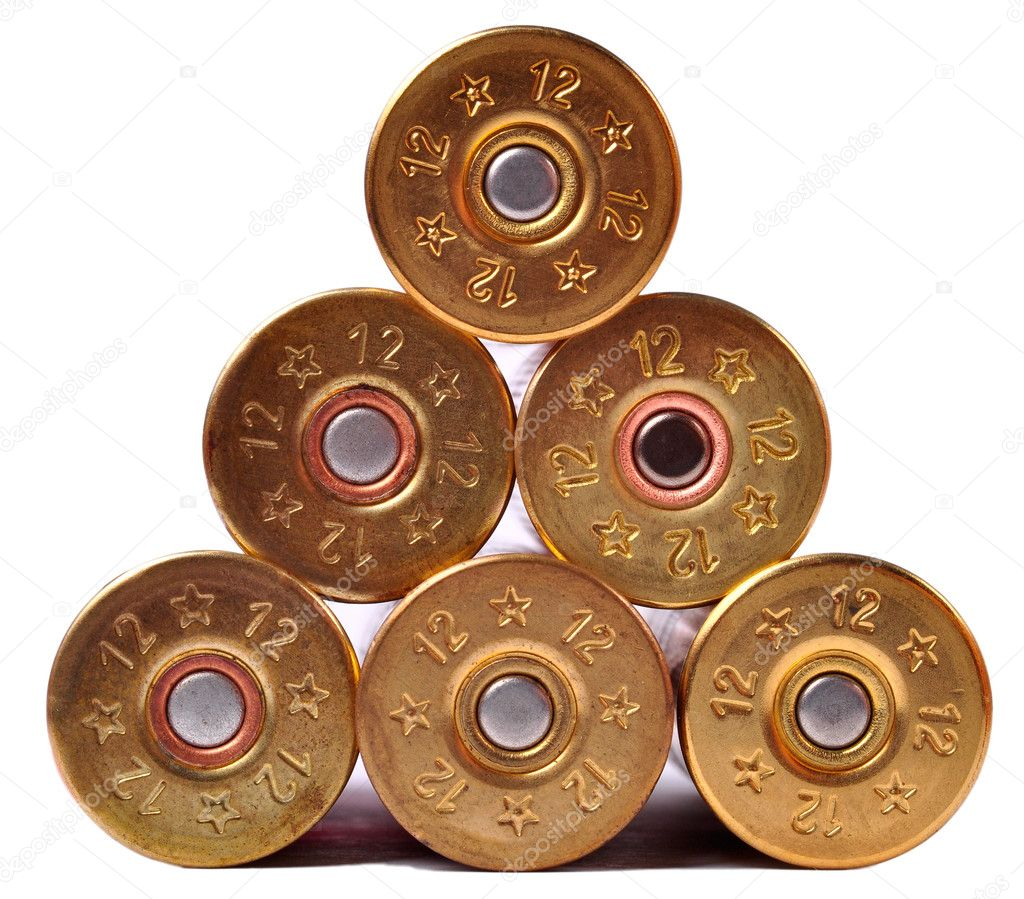 12 gauge shttgun shells used for hunting — Stock Photo #7311557