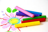 Crayons de couleur pastel huile — Photo