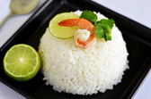 Rice and shrimp — Stock Photo