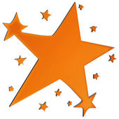 Orange Star — Stock Photo