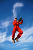 Highjumper - hochspringer — Стоковое фото