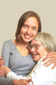 Young woman with grandmother — Stock Photo