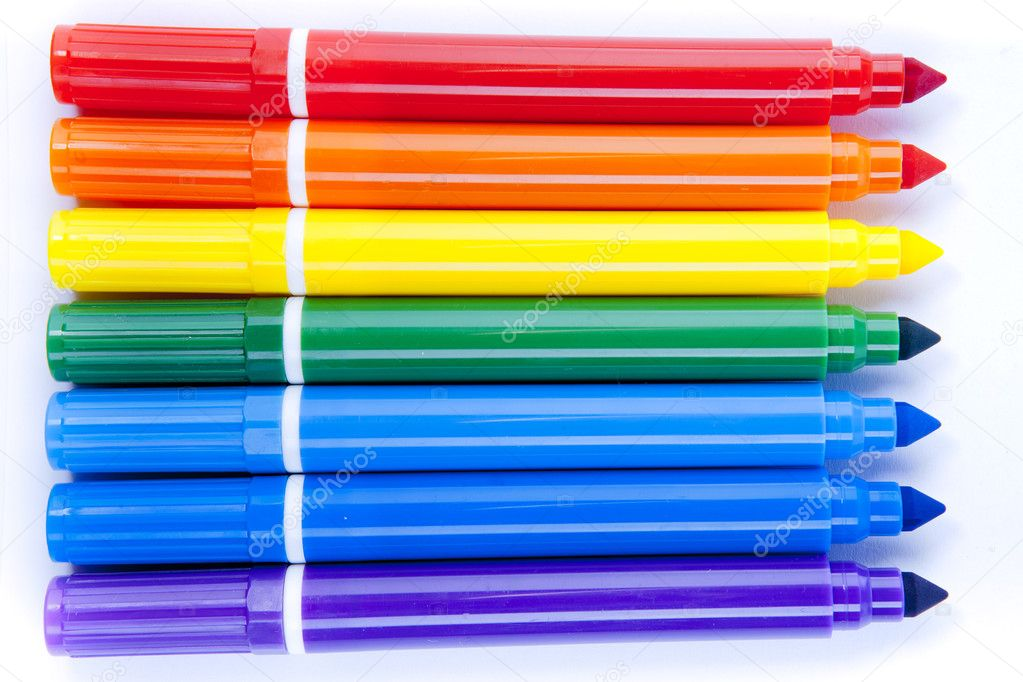Set of felt-tip pens of different colors  Stock Photo #6954545