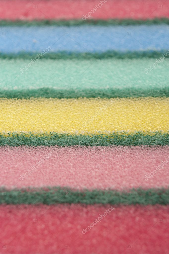 Multi-colored kitchen sponges for ware washing — Stock Photo #7542842