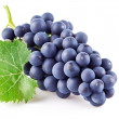 Blue grapes with green leaf — Stock Photo #6805224