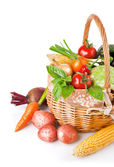 Fresh vegetables with green leaves — Stock Photo