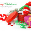 Christmas gift with ribbon — Foto de Stock