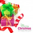 Christmas gift with ribbon and bow — Stock Photo #7718643