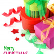 Christmas gift with ribbon and bow — Stock Photo