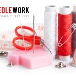 Tools for needlework thread scissors and tape measure — Stock Photo #8493151