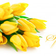 Yellow tulip flowers bouquet — Stock Photo