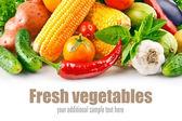 Verdura fresca con foglie — Foto Stock