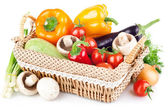 Fresh vegetables with leaves — Stock Photo