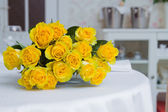 Bunch of yellow roses — Foto de Stock